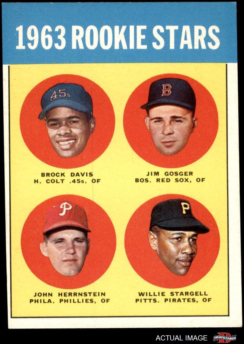 1963 topps 553 rookie stars willie stargell jim gosger