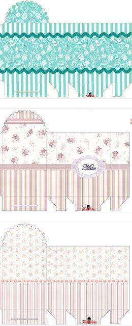 Cajas con Diseño Elegante para Imprimir Gratis. | boite a cadeau ...