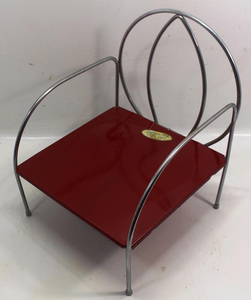 8635ccf20ea Metal Children's Chair Jack n Jill Child Seat Metal Toddler Booster Seat  Vintage | eBay