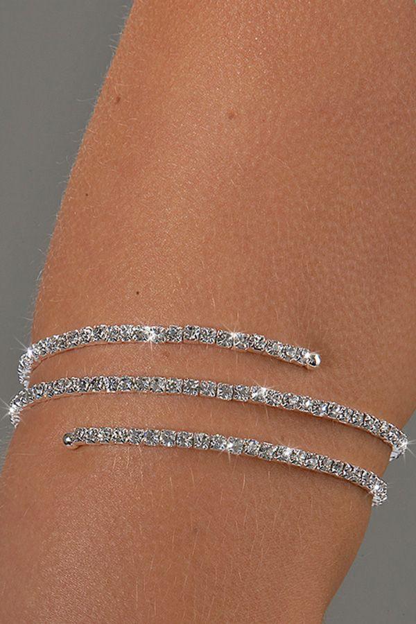 Rhinestone Arm Bracelet Dance Wrap Around