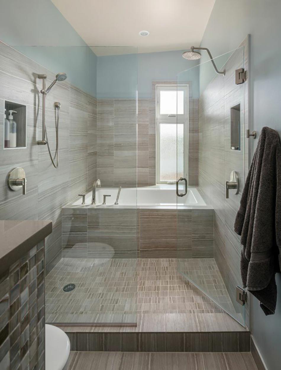 Ameublement de salle de bain rideaux ou parois originaux sdb salle de bain baignoire - Baignoire douche design ...
