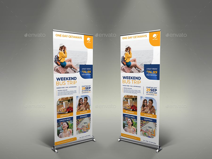 Bus Trip Signage Banner Roll Up Template #Affiliate #Signage, #AFFILIATE, #Trip,...