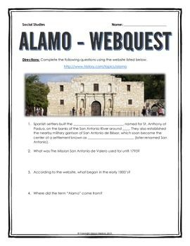 The battle of san jacinto san jacinto worksheets and texas history alamo webquest with key fandeluxe Gallery