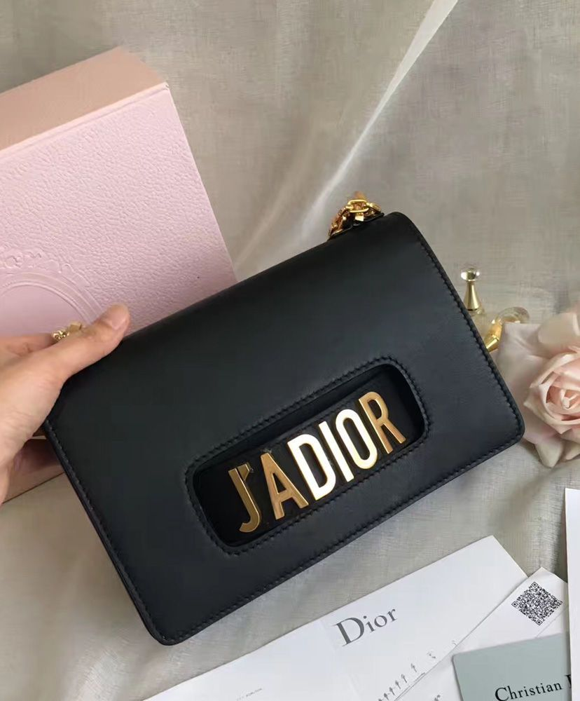 Christian Dior J ADIOR Flap Bag With Chain In Calfskin M9000.  c4f0629d45ca7