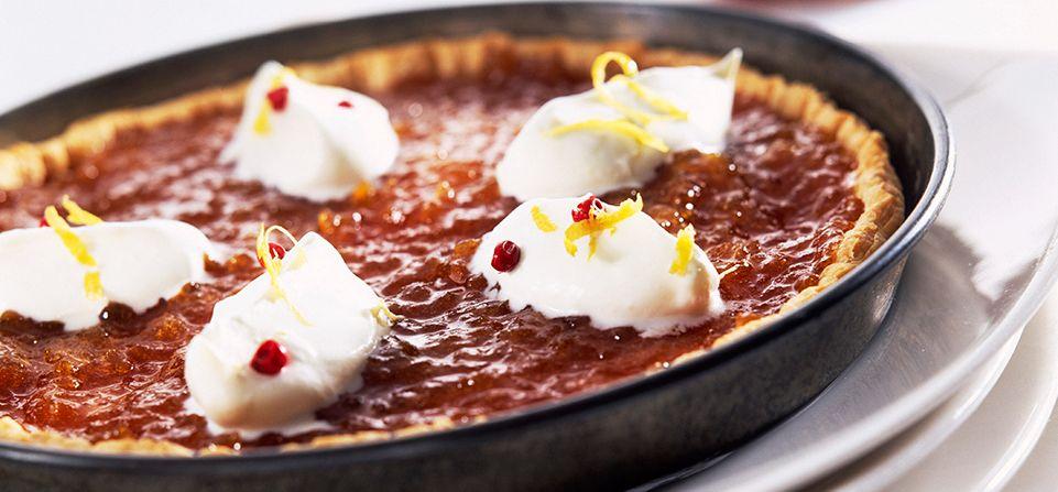 Philadelphia Crostata con confettura di albicocche e crema di Philadelphia alla vaniglia