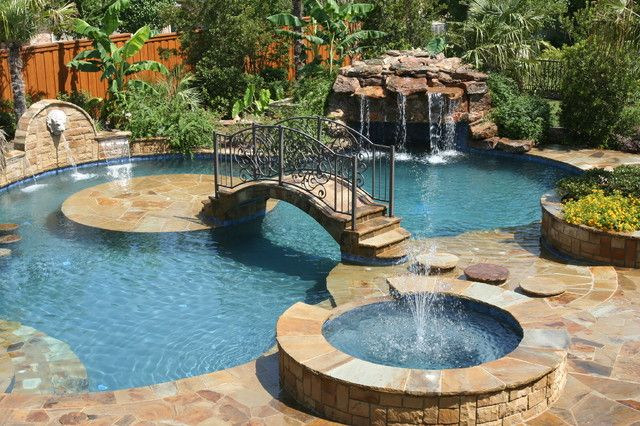 pool tropical pool sloped backyard landscape designs for large backyards ideas playground design ideas outdoor pool landscaped backyard ideas - Backyard Pool Design Ideas
