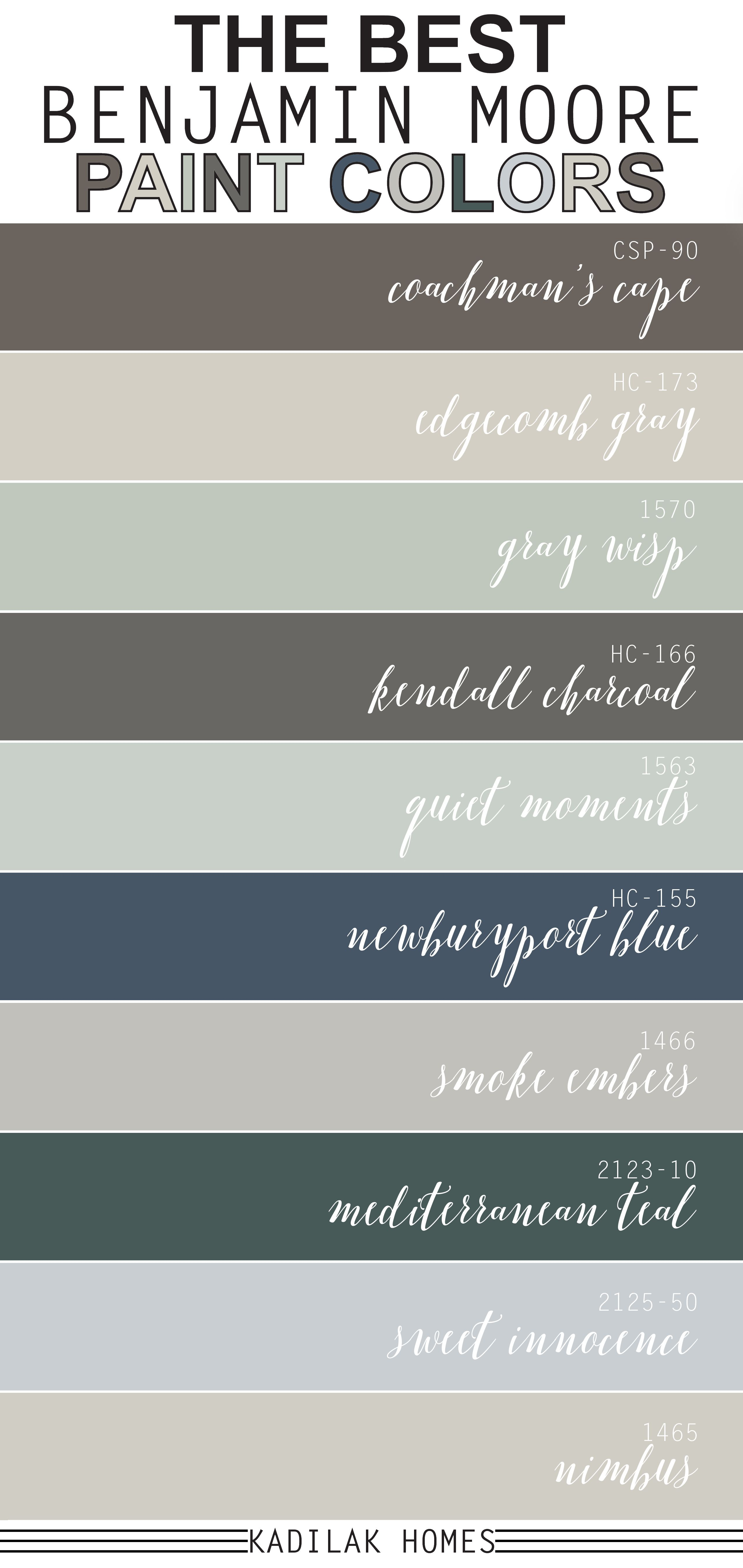 The Best Benjamin Moore Paint Colors Paint Colors Benjamin Moore Benjamin Moore Paint Paint Colors For Living Room