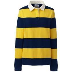 Gestreiftes Rugbyshirt – Gelb – 44-46 von Lands' End Lands' End – Summer outfits