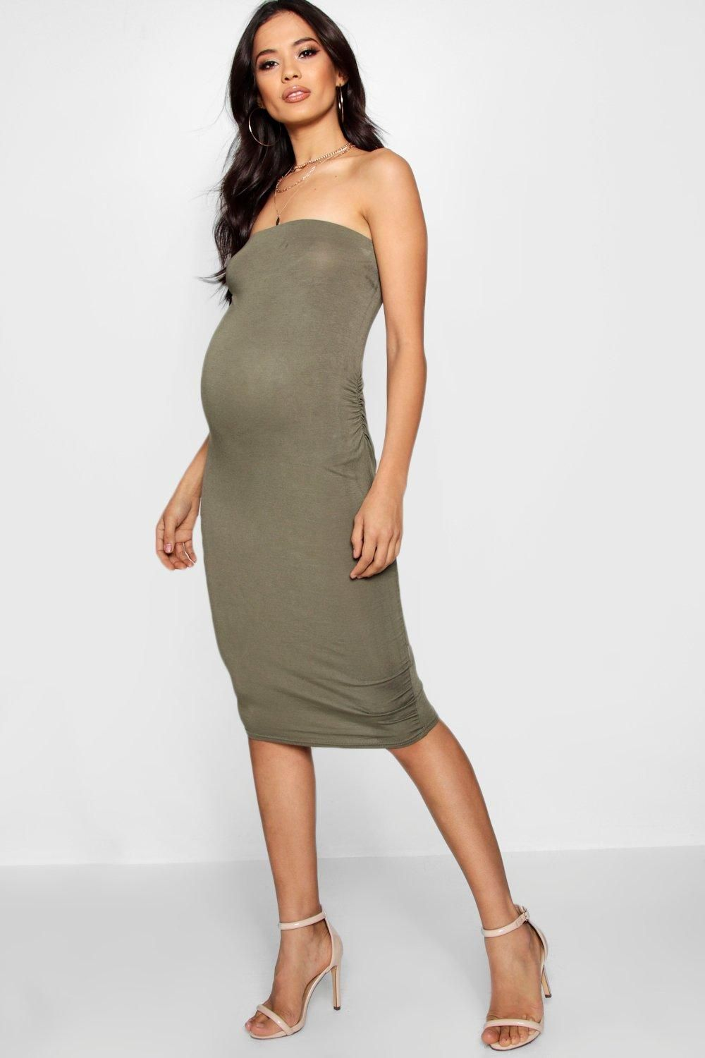 d6760f8678dcc Click here to find out about the Maternity Lucy Bandeau Bodycon Midi Dress  from Boohoo, part of our latest Dresses collection ready to shop online  today!