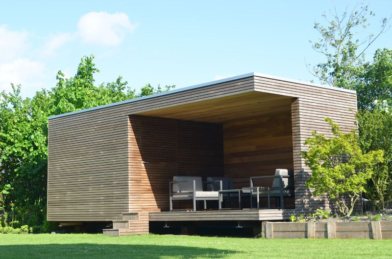Moderne poolhouses in eiken en thermohout livinlodge pure