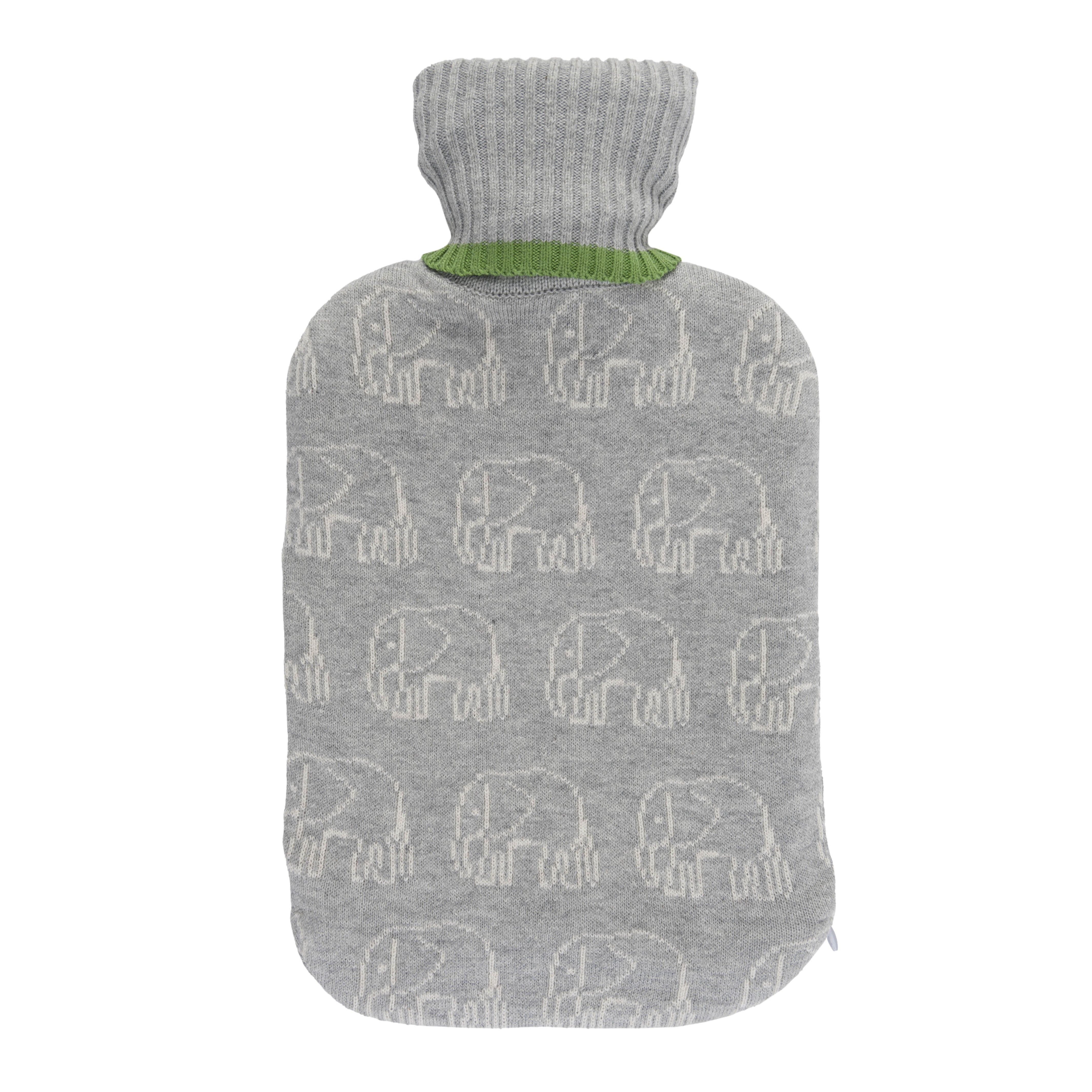 elephant knitted hot water bottle sophie allport this adorable