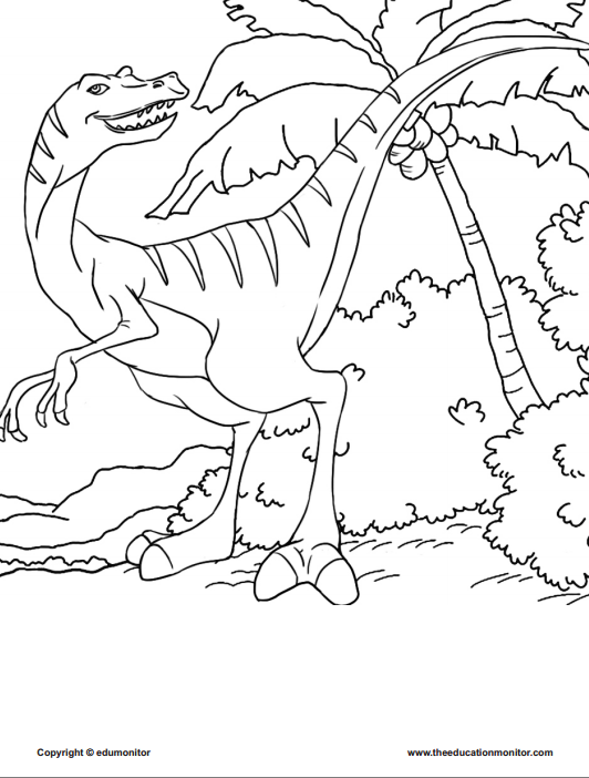Printable dinosaur coloring pages-free printable