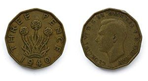 Great Britain Coins for collectors Threepenny Bit Coin Circulated British 1939 Three Pence