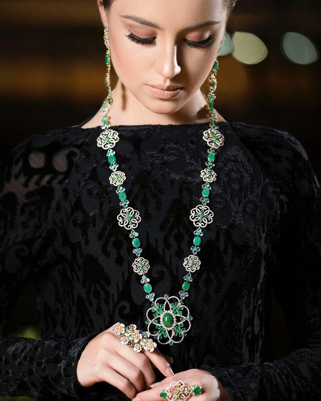 Exotic fashion jewelry -  Goldesignbrazilianjewellery This Emerald Neckalce Is Just Stunning Lotus Jewelryjewelry Boxjeweleryslytherindiamond Necklacesexoticfashion