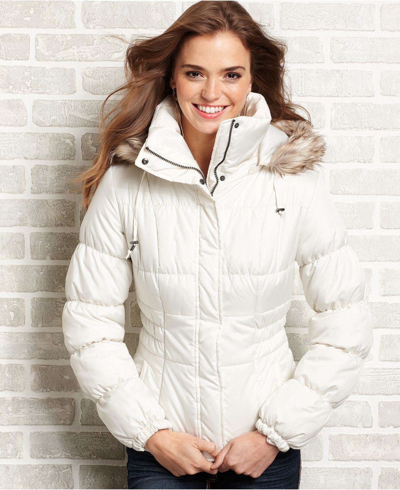Pink Envelope Juniors Coat Faux Fur Trim Hooded Puffer Juniors Coats Macy S Junior Coats Fur Trim Pink Envelopes [ 1616 x 1320 Pixel ]