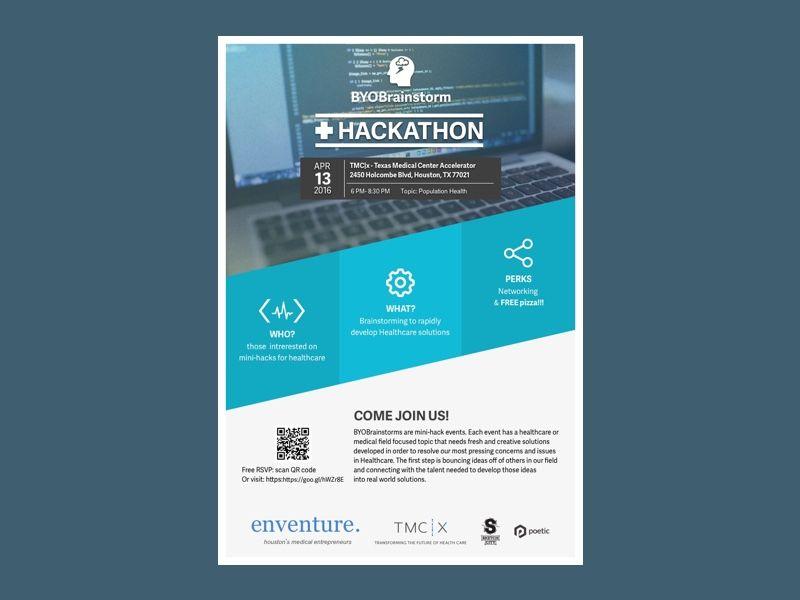 BYOBrainstorm flyer | Hackathon Visual Ideas | Flyer design