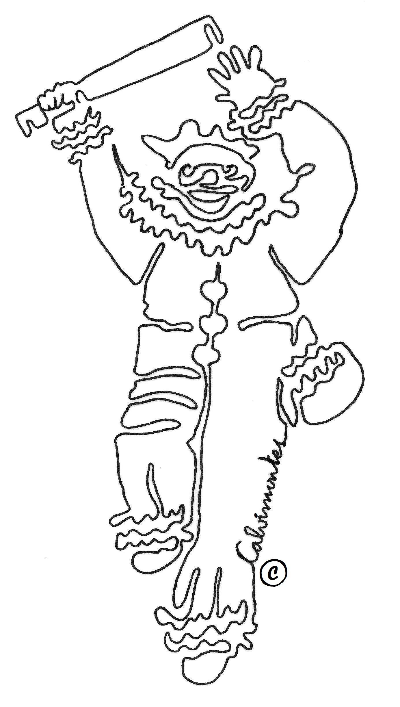 Pepino El Rey Del Carnaval Paceno En Bolivia Dibujo Con Un Solo Trazo Por Carlos Calvimontes Rojas Carnaval Bolivia Carnaval Dibujos