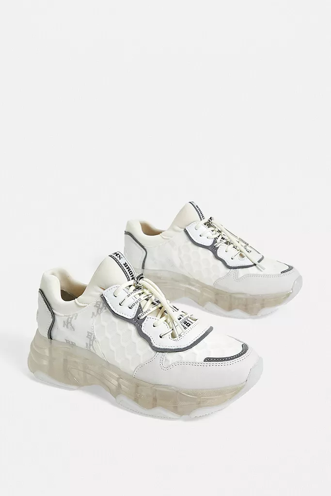 Bronx Baisley Silver Chunky Trainers in