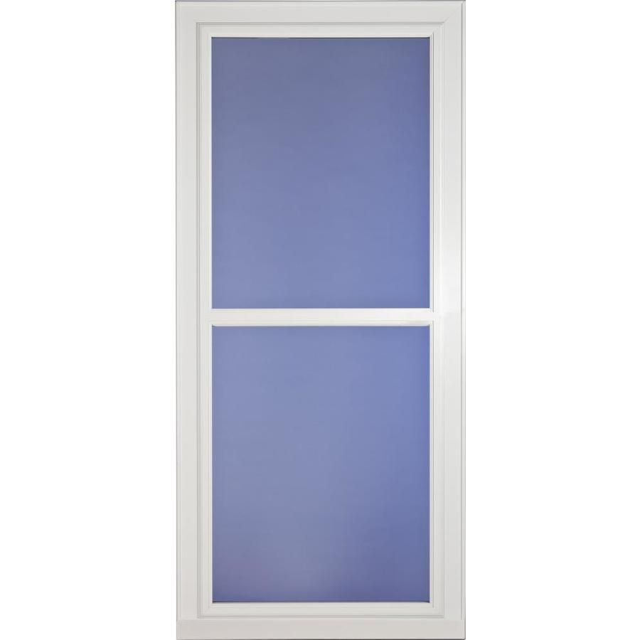 Larson Tradewinds Selection White Full View Aluminum Storm Door With