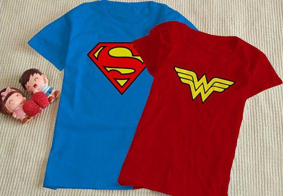824cb85b99 Superman And Wonder Woman logo Couple T Shirt/Men T by TheSamawa ...