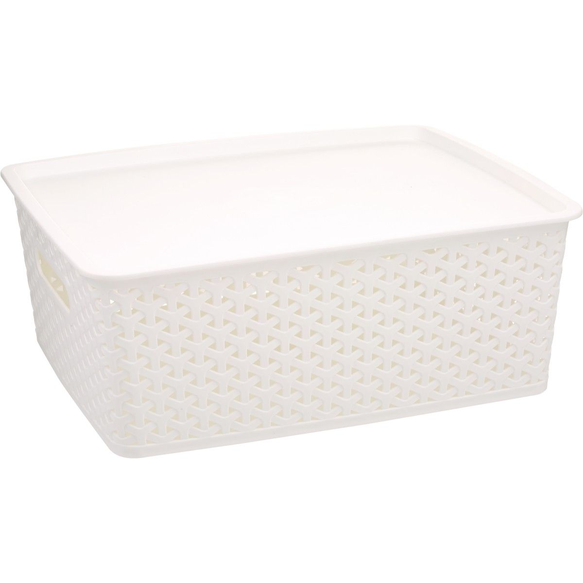 House Home 11l Plastic Rattan Storage Container White Plastic Container Storage Plastic Storage Drawers Storage Containers