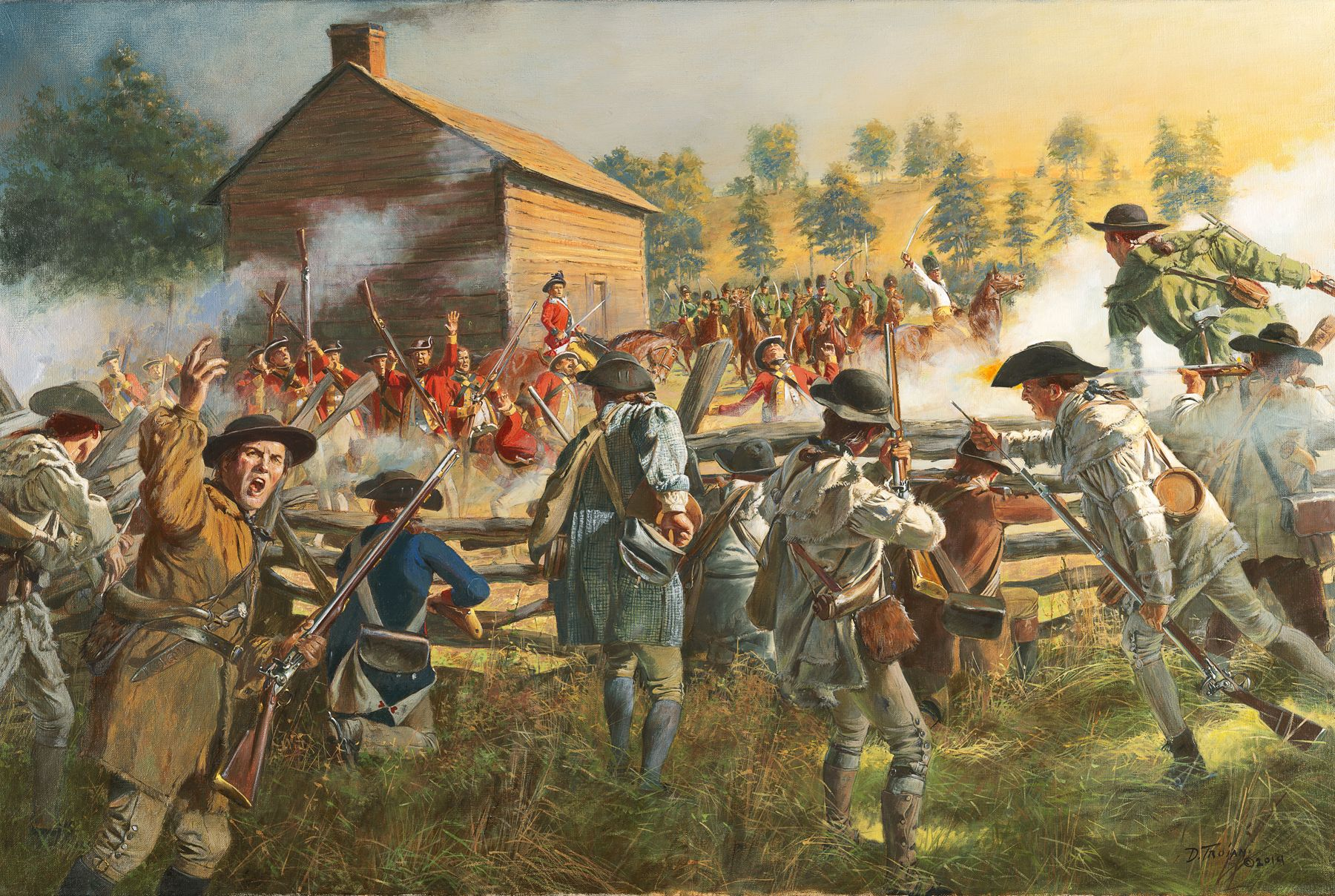revolutionary war art prints | Huck's Defeat - July 12, 1780