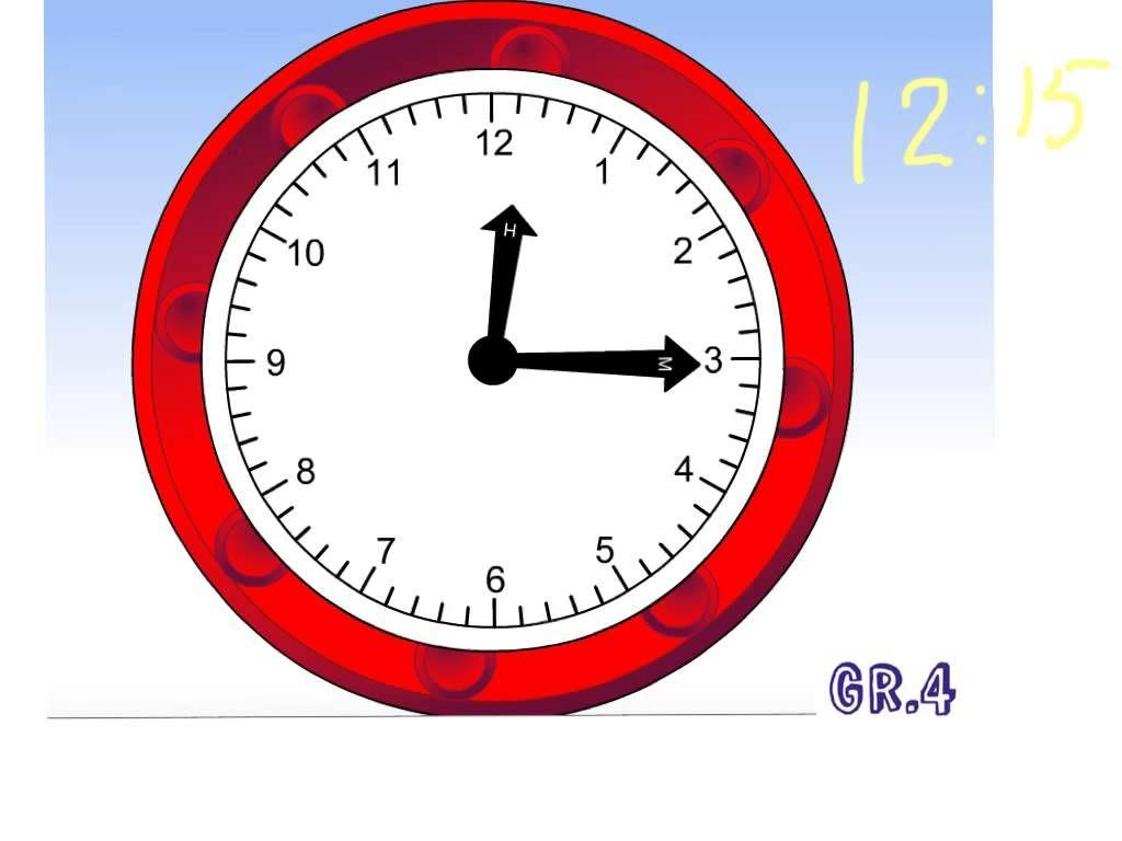 Telling Time Quarter Past