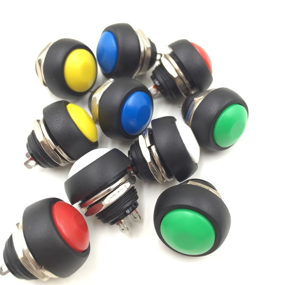 10 pcs petit bouton rond commutateur bouton poussoir. Black Bedroom Furniture Sets. Home Design Ideas