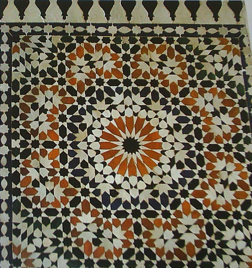 Zellij panel from Marakesh, Morocco. 16th Century.