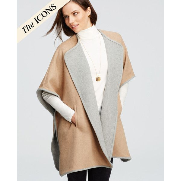 Ann Taylor Petite City Cape ($175) ❤ liked on Polyvore featuring ...