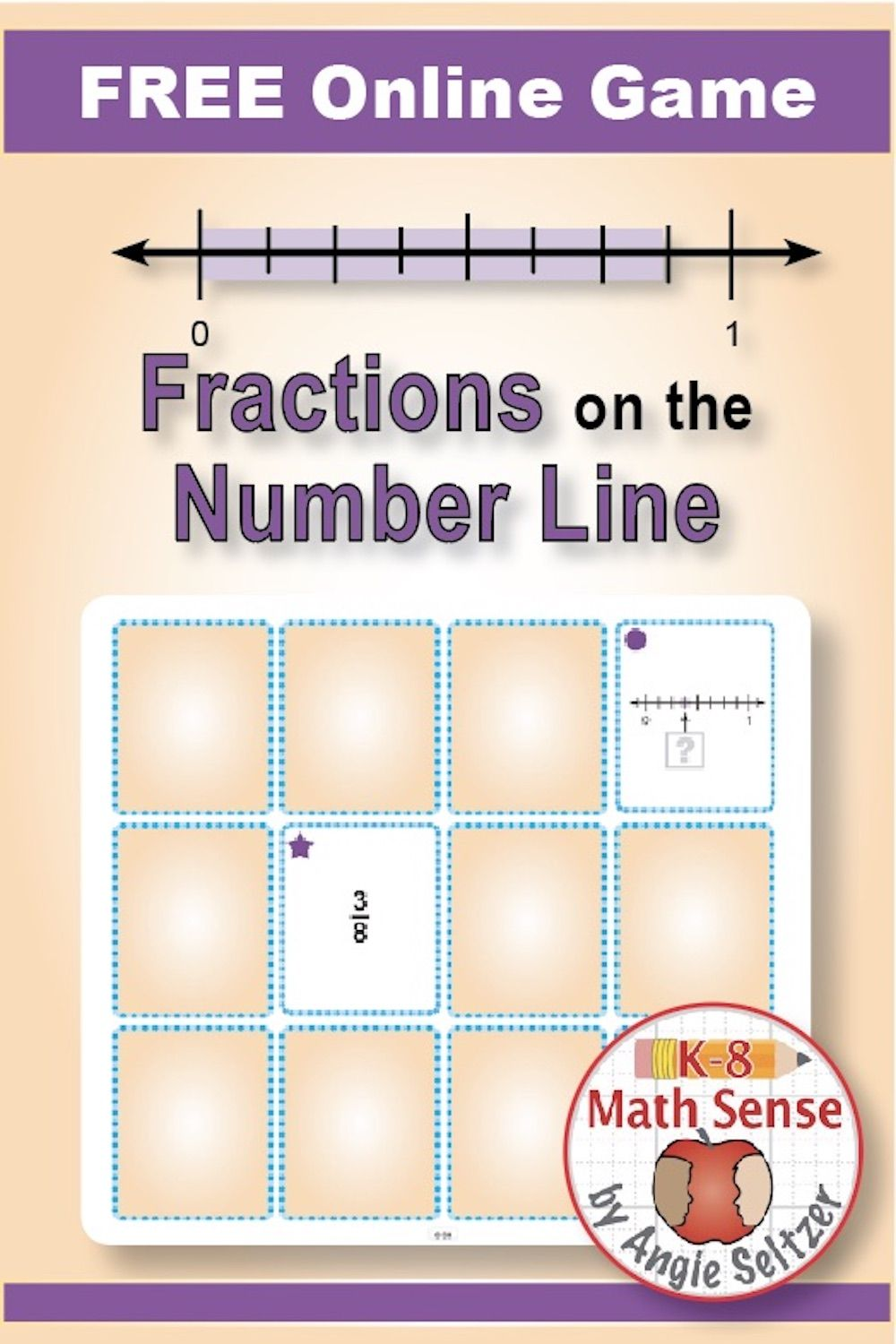 FRACTIONS ON THE NUMBER LINE. These FREE online cards