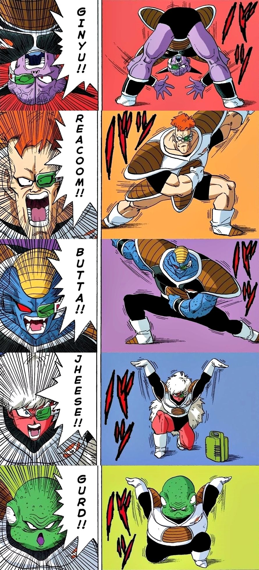 Dragon Ball Gt 3d Wallpaper Ginyu Force Dbz The Show That Never Gets Old