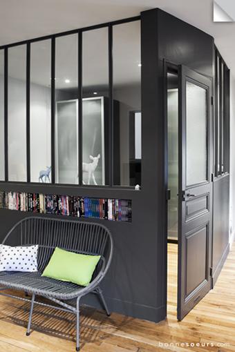 coin chambre dans le salon 40 id es pour l 39 am nager. Black Bedroom Furniture Sets. Home Design Ideas