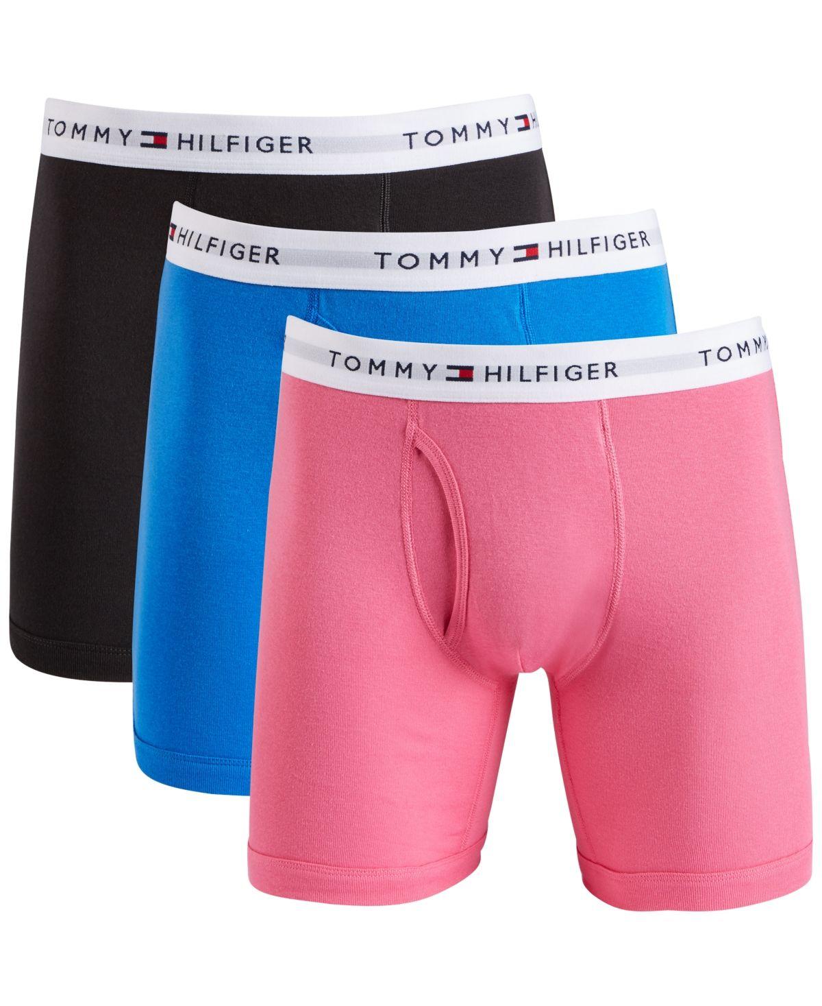 Tommy Hilfiger Men's Cotton Boxer Brief 3Pack Bright