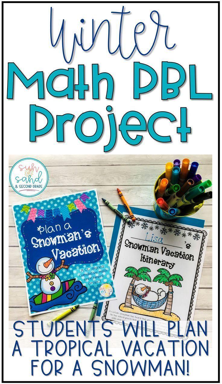 Winter Math Activities - Plan a Snowman\'s Vacation Project   Math ...