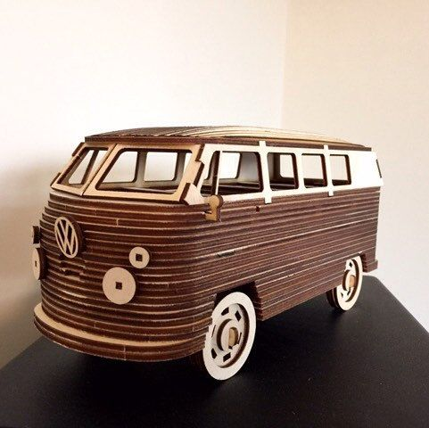 detailed vw camper van bus 3d laser cut model 3d. Black Bedroom Furniture Sets. Home Design Ideas