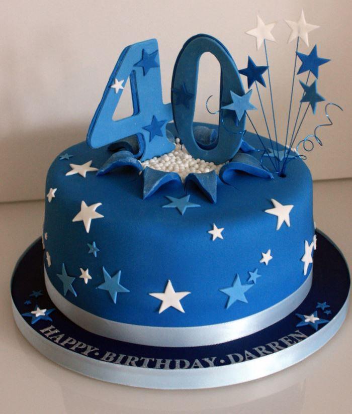 40th Birthday Cakes Male Birthday cakes for women Dipacake