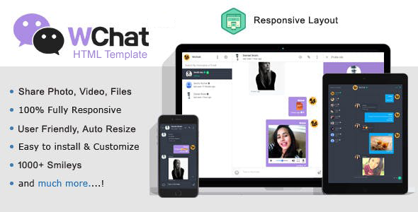 Wchat Free Chat Html Template By Bylancer Html Templates Free Website Templates Templates