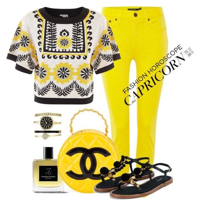 """Capricorn style"" by anna-martirosyan ❤ liked on Polyvore featuring Lauren Ralph Lauren, Temperley London, Chanel, Dolce&Gabbana, fashionhoroscope and stylehoroscope"