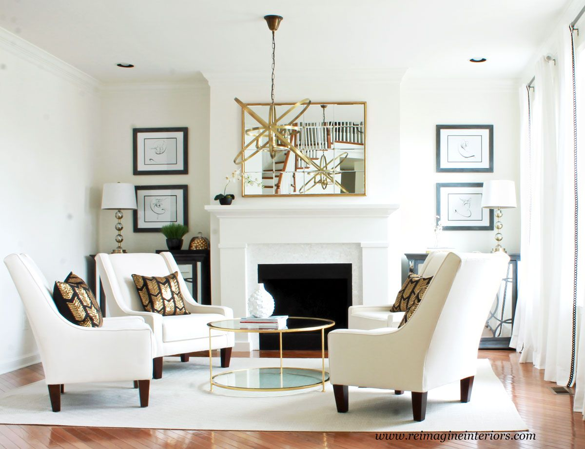 All White Living Room Design In Downingtown PA Chester County | Interior  Decorator On The Main Line Philadelphia U2013 ReImagine Interiors: Interior  Design And ...