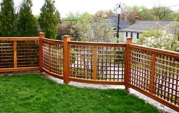 fencing with lattice - Google Search