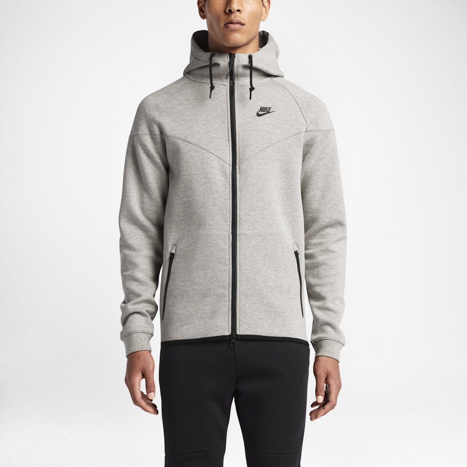 Men s Nike Tech Fleece Windrunner Hoodie Jacket Heather Grey Small 545277  065 9875d8c0f8