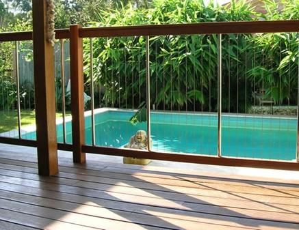 Vertical Cable Fence Glass Pool Fencing Pool Fence Backyard Pool
