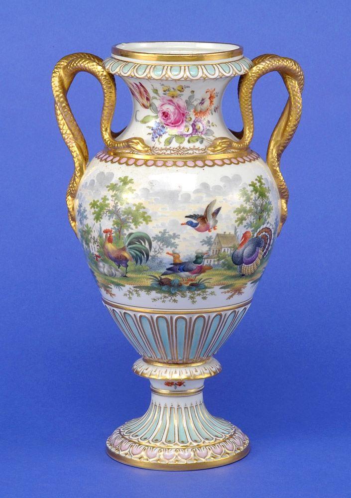 Meissen Porcelain Manufactory (Germany) — Snake Handles Vase. H: 31cm, 19th century (705×1000)