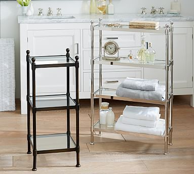 Metal Etagere Potterybarn Small Is 13 5 Square By 31 High Could Work