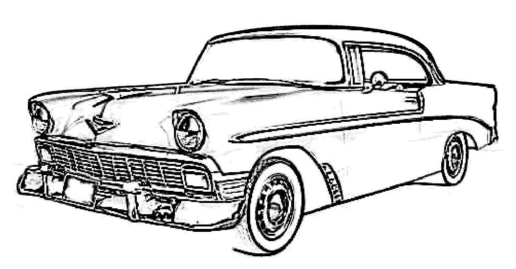 pin old car coloring - photo #4