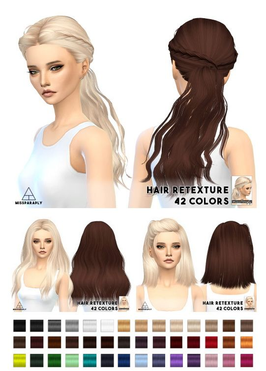Miss Paraply Hair Retexture Skysims Hairs Sims 4 Downloads