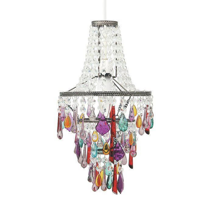 This Stunning Antique Silver Brasulti Colored Beaded Chandelier Inspired Accent Feature Looks Dazzling With