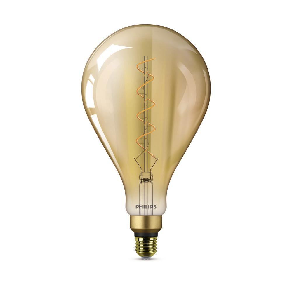 Philips 25 Watt Equivalent A50 Dimmable Vintage Glass Edison Led