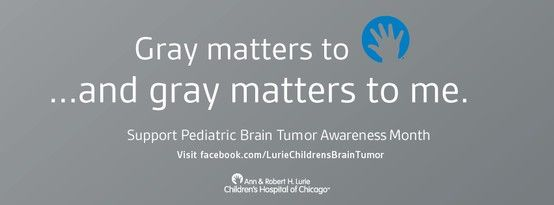 An estimated 4,000 children under age 20 are diagnosed annually with a primary benign or malignant brain tumor. May is Brain Tumor Awareness Month. Show your support!